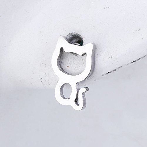 Sexy Sparkles Cat stainless steel stud earrings for women girls