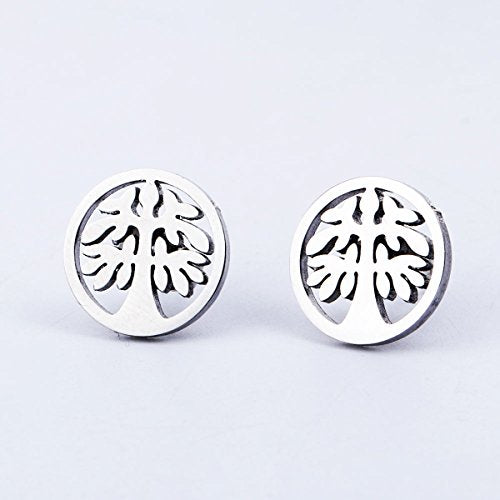 Sexy Sparkles Tree stainless steel stud earrings for women girls
