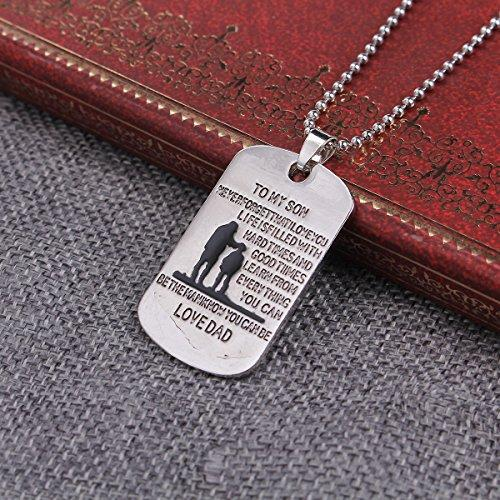 "SEXY SPARKLES ""To my son never forget that i love you.Life is filled with hard times and good times learn from everything you can. Be the man i know you can be"" Necklace With inspirational pendant"