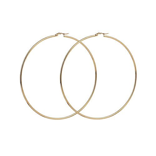 Sexy Sparkles 3 Pairs Surgical Stainless Steel Hypoallergenic Round Hoop Earrings Set for Women
