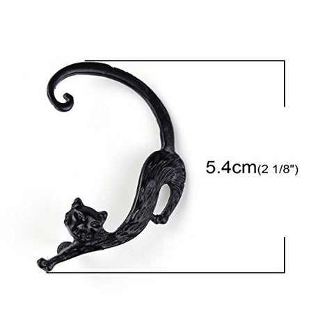 SEXY SPARKLES Cat Ear Cuff for women Clip On Stud Wrap Earrings For Left Ear (1 Pcs)