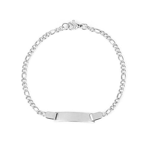 SEXY SPARKLES Stainless Steel very thin Bracelet with blank that you can engrave