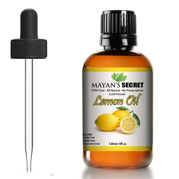 Lemon oil essential oil/Cold Pressed,Natural, Undiluted, Therapeutic Grade Aromatherapy Oil Large 4 ounces Glass Bottle