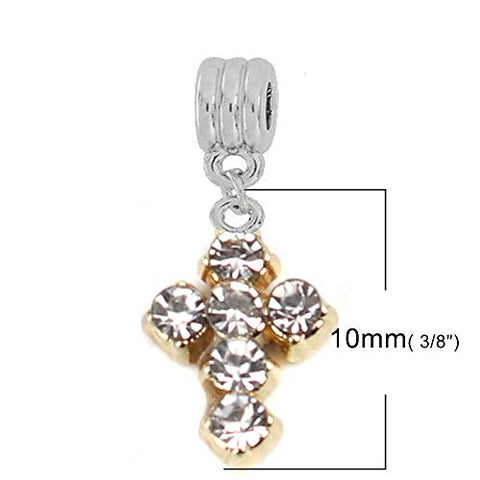 Sexy Sparkles Cross Charms for Bracelets European Style