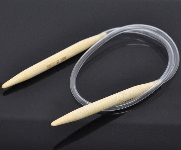 Sexy Sparkles 1 Pair Bamboo 40cm Circular Knitting Needle Size 11
