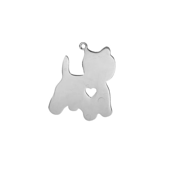 SEXY SPARKLES Stainless Steel Dog Pendants Shapes Dog Lover Gift Personalize with Name