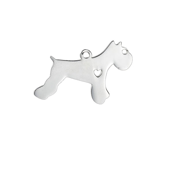 SEXY SPARKLES Stainless Steel Dog Pendants Shapes Dog Lover Gift Personalize with Name - Sexy Sparkles Fashion Jewelry - 1