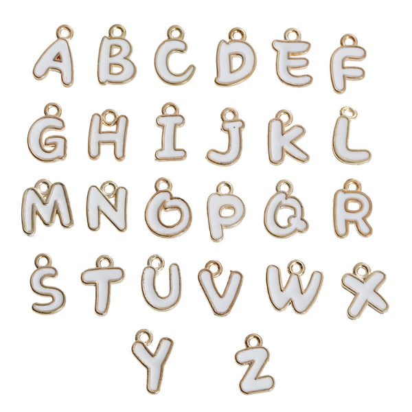 "26 Alphabet /Letter "" A-Z "" initial Charms for Jewelry Making, Bracelets, necklaces, Key chains, Purses and more - Sexy Sparkles Fashion Jewelry - 1"