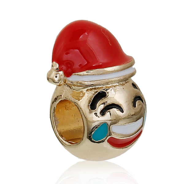 Sexy Sparkles Christmas Emoji Crying with Laughter Charm European Spacer Bead for Bracelet - Sexy Sparkles Fashion Jewelry - 1