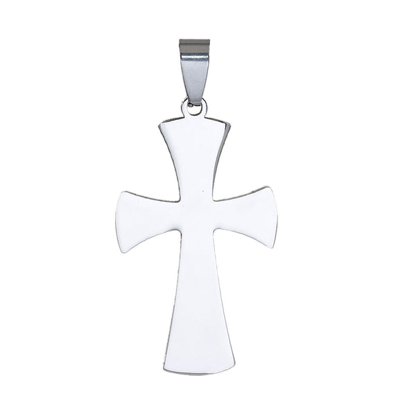 Sexy Sparkles Mens Cross Pendant for Necklace Women Stainless Steel Pendant - Sexy Sparkles Fashion Jewelry - 1