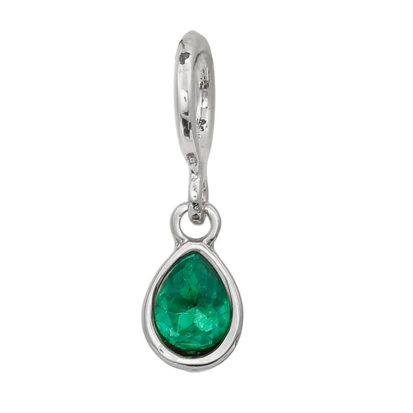 Sexy Sparkles 3-Pack Green Tear Drop Rhinestone Charm Pendants for Bracelets or Necklaces