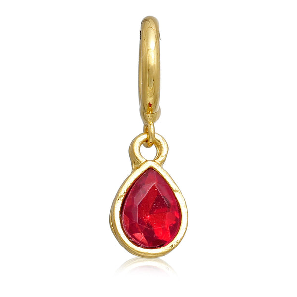 3-Pack Red Tear Drop Rhinestone Charm Pendants for Bracelets or Necklaces - Sexy Sparkles Fashion Jewelry