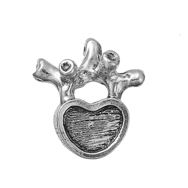 Sexy Sparkles Medical Anatomical 3D HumanLumbar Vertebrae Charm Pendant for Necklace,Bracelets or Keychains