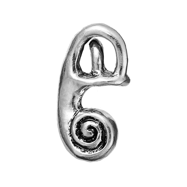 Sexy Sparkles Medical Anatomical 3D Human Cochlea Charm Pendant for Necklace,Bracelets or Keychains