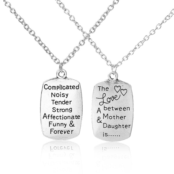 "SEXY SPARKLES "" Mother & Daughter "" Pendant Necklace Double Side Message"
