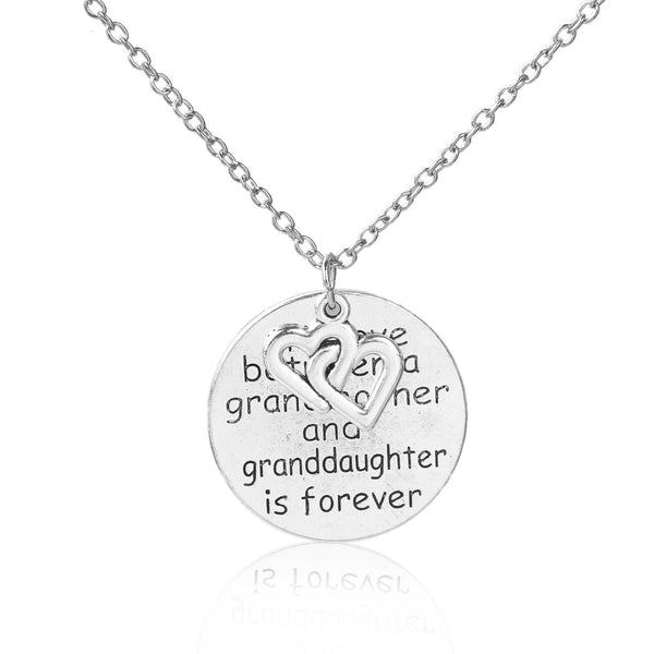 Sexy sparkles The Love Between Grandmother and Granddaughter is forever heart Necklace