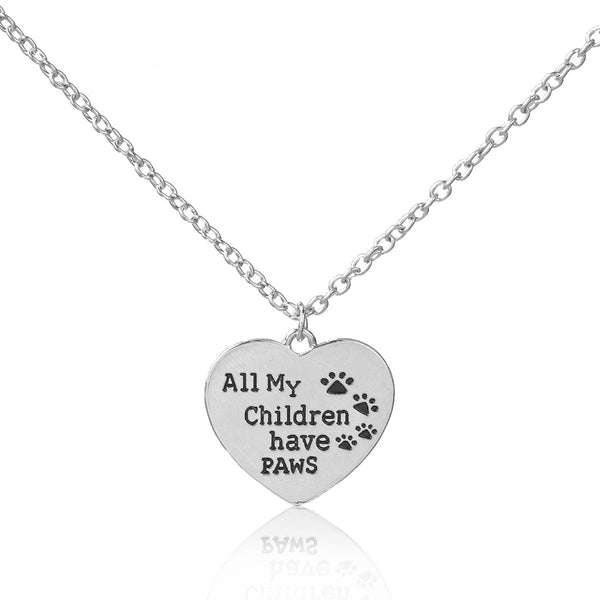 "Sexy Sparkles "" All My Children Have Paws "" Dog Cat Pet Memorial Necklace"