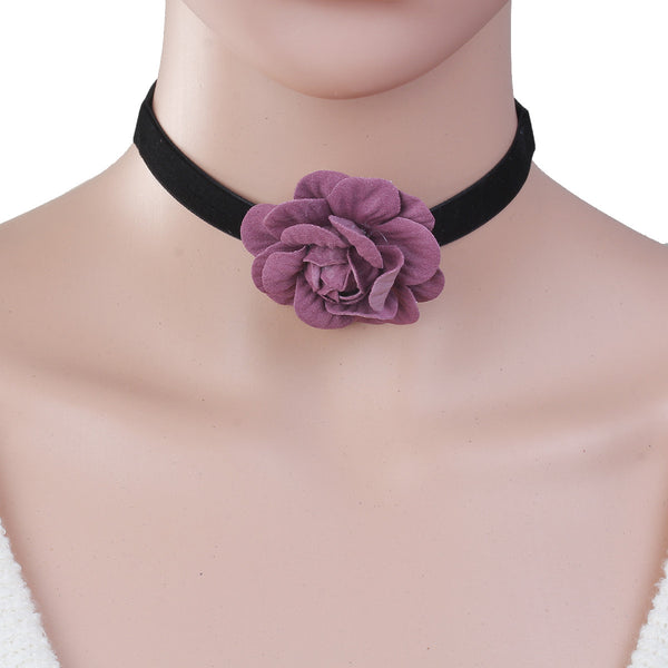 Sexy Sparkles New Style Black Choker Necklace with B0087739