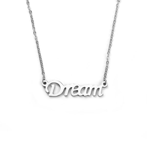 "Sexy Sparkles stainless steel womens jewelry ""Dream"" Necklace pendant for women girls small elegant design"