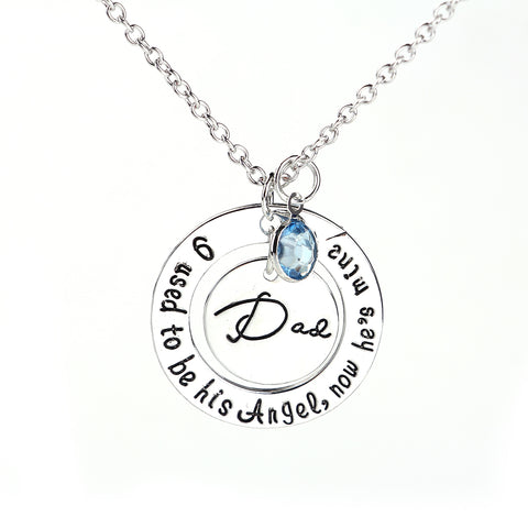Forever In My Heart Father Day Family Jewelry Necklace
