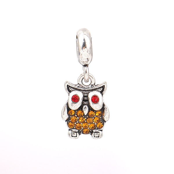 Owl Charm Compatible with Most Major European Brand Bracelets