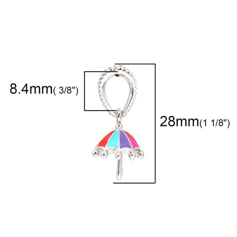 UmbrellaCharm Compatible with Most Major European Brand Bracelets