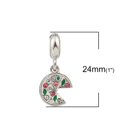 Pizza Charm Compatible with Most Major European Brand Bracelets