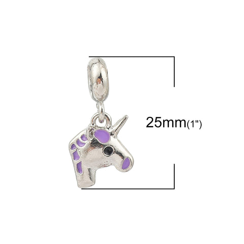 Unicorn Horse Charm Compatible with Most Major European Brand Bracelets