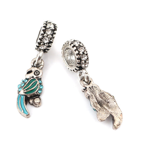 Parrot Bird Charm Compatible with Most Major European Brand Bracelets
