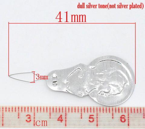 25 Pcs Silver Tone Bow Wire Needle Threaders 41mm - Sexy Sparkles Fashion Jewelry - 2