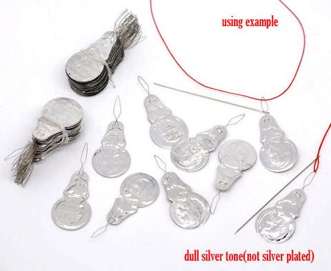 25 Pcs Silver Tone Bow Wire Needle Threaders 41mm - Sexy Sparkles Fashion Jewelry - 4