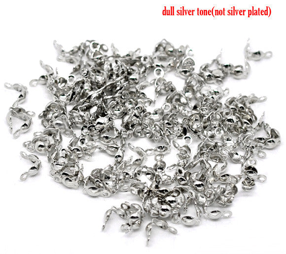 500pcs Silver Tone Charlotte Necklace Crimps Beads Tips 8x4mm - Sexy Sparkles Fashion Jewelry