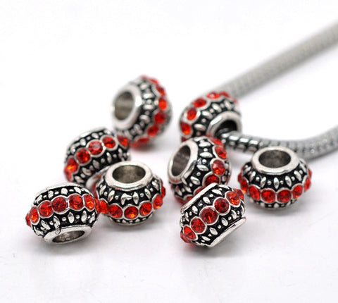 Birthstone Red July Charm European Bead Compatible for Most European Snake Chain Bracelet - Sexy Sparkles Fashion Jewelry - 3
