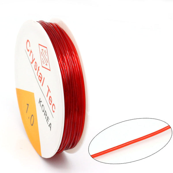 Sexy Sparkles 1roll 1m Nylon Elastic Cord Red 1mm