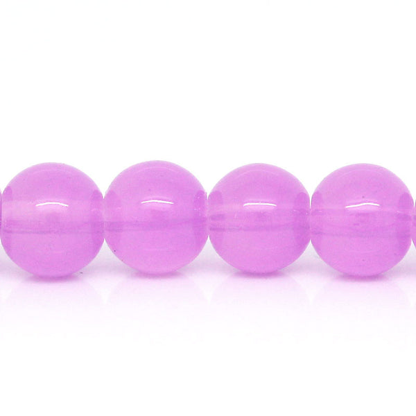Sexy Sparkles 1 Strand Purple Ball Glass Loose Beads 8mm