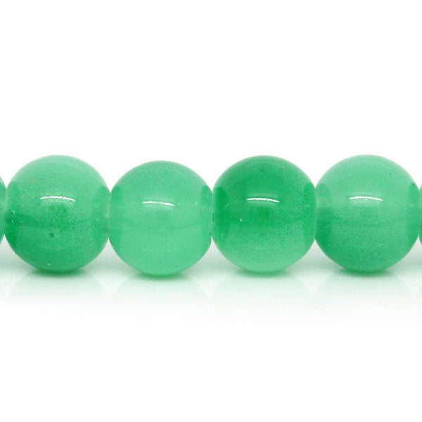Sexy Sparkles 1 Strand Green Ball Glass Loose Beads 8mm