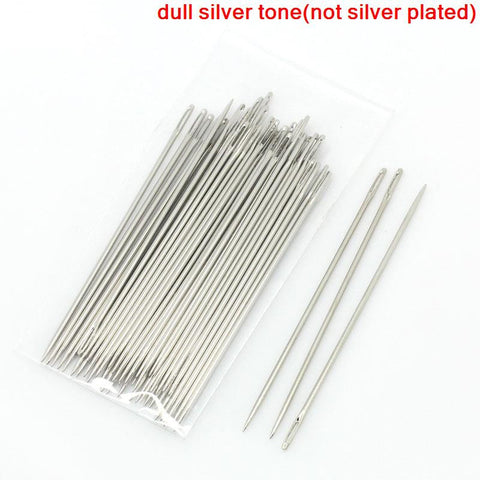 Sexy sparkles 25 Pcs Beading Needles Threading String/cord Jewelry Tool 5cm