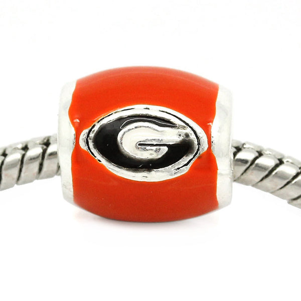 Georgia Bulldogs European Charm Bead - University Of Georgia Football Team Logo - Sexy Sparkles Fashion Jewelry - 1