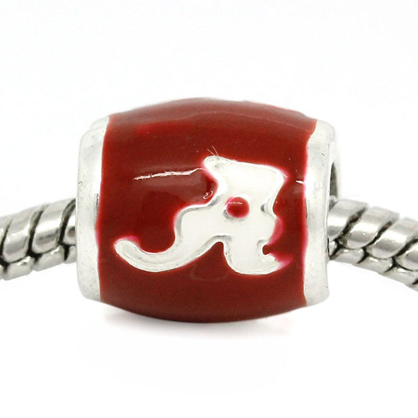 Alabama Crimson Tide Football Team Logo European Bead For Charm Bracelets - Sexy Sparkles Fashion Jewelry - 1