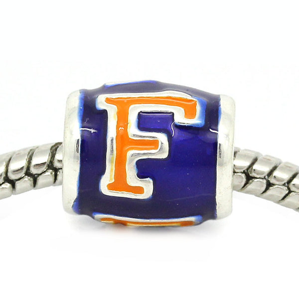 Florida Gators European Bead Charm - University Of Florida Football Team Logo - Sexy Sparkles Fashion Jewelry - 1