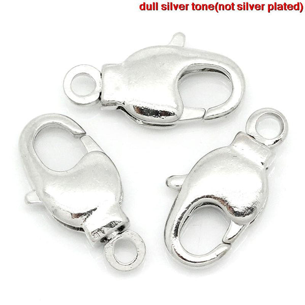10 Pcs Silver Tone Lobster Clasp, 14mm X 7mm - Sexy Sparkles Fashion Jewelry - 1