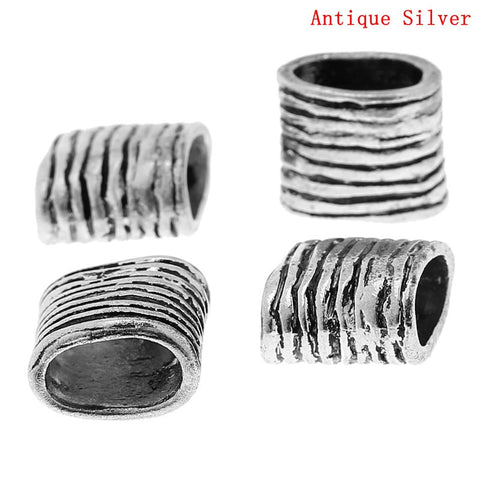 Sexy Sparkles 10pcs Rectangle Antique Silver Beads Fit Watch Bands/wristbands14mmx13mm