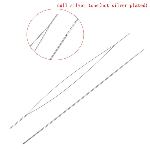 Sexy Sparkles 5 Pcs Beading Needles Threading String/cord Jewelry Tool 0.3mmx60mm [Home]