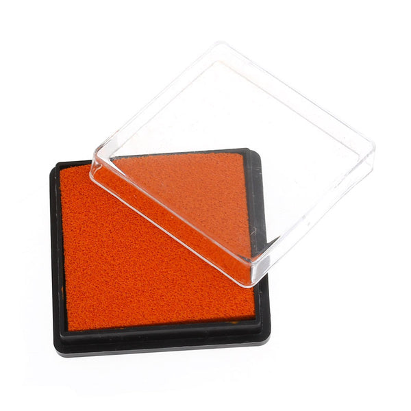 2 Pcs Ink Pad for Rubber Stamp Orange Red 4cm - Sexy Sparkles Fashion Jewelry - 1