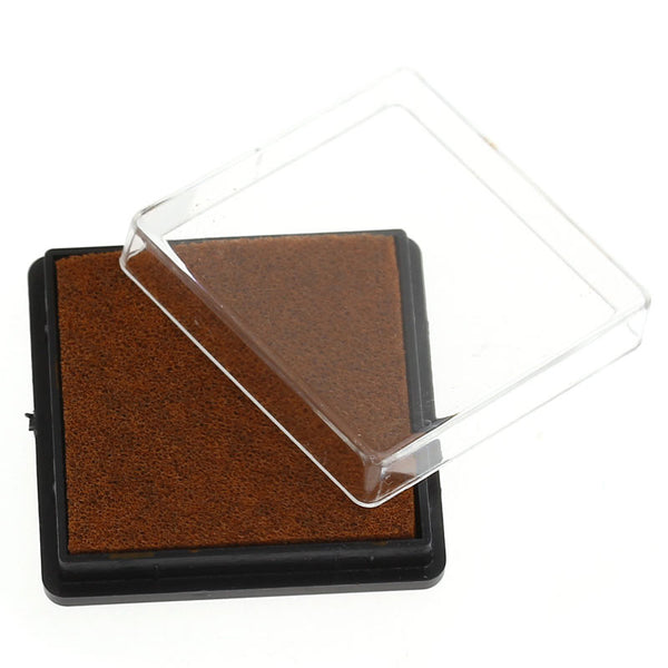 2 Pcs Ink Pad for Rubber Stamp Coffee 4cm - Sexy Sparkles Fashion Jewelry - 1