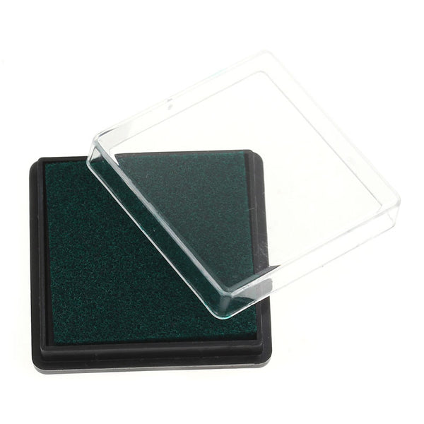 2 Pcs Ink Pad for Rubber Stamp Dark Green 4cm - Sexy Sparkles Fashion Jewelry - 1