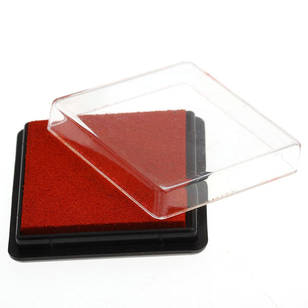 2 Pcs Ink Pad for Rubber Stamp Red 4cm - Sexy Sparkles Fashion Jewelry - 1