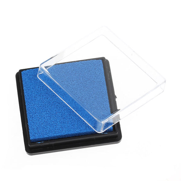 2 Pcs Ink Pad for Rubber Stamp Blue 4cm - Sexy Sparkles Fashion Jewelry - 1