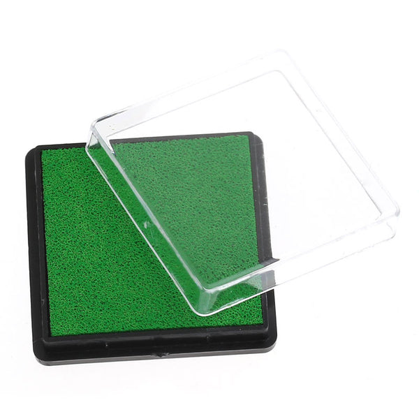 2 Pcs Ink Pad for Rubber Stamp Light Green 4cm - Sexy Sparkles Fashion Jewelry - 1