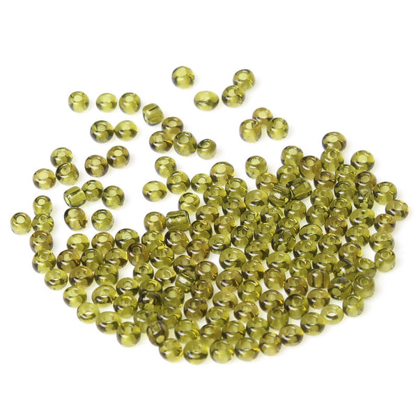Glass Seed Beads Size 8/0 Olive Green 450 Grams - Sexy Sparkles Fashion Jewelry - 1